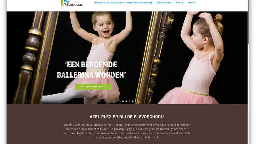 reclamebureau ONyVA ontwerpt nieuwe schoolsite